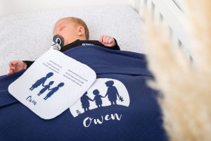 Dekentje op geboortekaartje